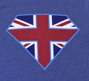 SuperBrit Icon - printed on front of tee