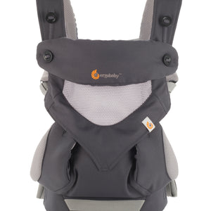 Carbon grey Ergo 360 performance carrier front view showing breathable cool mesh