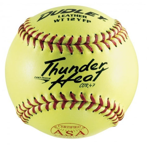 Dudley Thunder Heat WT-12 Yellow Fast Pitch Softball