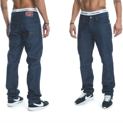 Rocawear Stay True Injection Denim Pants Dark Blue