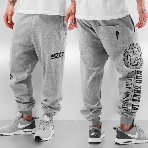 Who Shot Ya? Sweat Pants Grey Melange