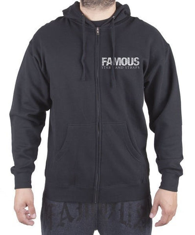 Famous Stars and Straps Zip Hoodie - INFLUX