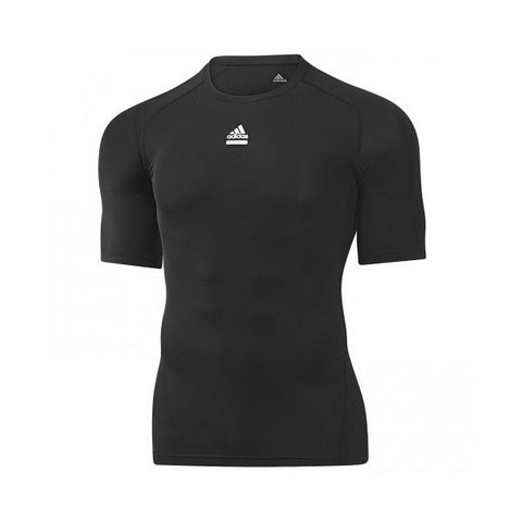 Adidas Mens Logo Techfit Tops Black