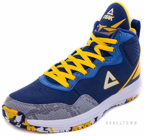 PEAK Basketball Shoes E53151A Dk.Blue/Yellow