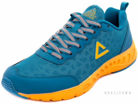 PEAK Running Shoes CROSS E53107 Sky Blue/Yellow