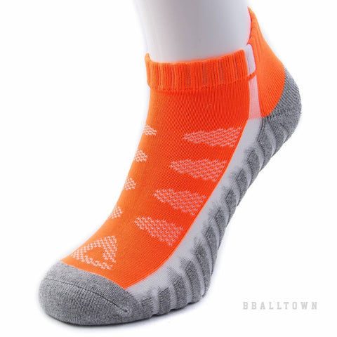 PEAK LOW CUT SOCKS W14901 LT.GREY/ORANGE