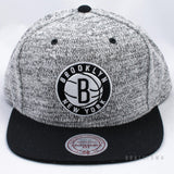 Mitchell & Ness Grey Duster Snapback Brooklyn Nets Grey / Black