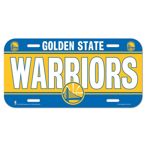 Wincraft License Plate Golden State Warriors
