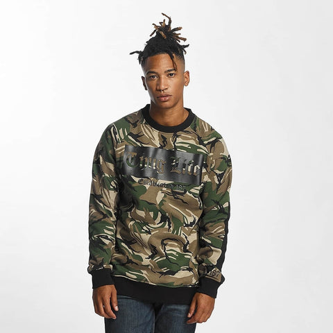 Thug Life Men Jumper THGLFE in camouflage