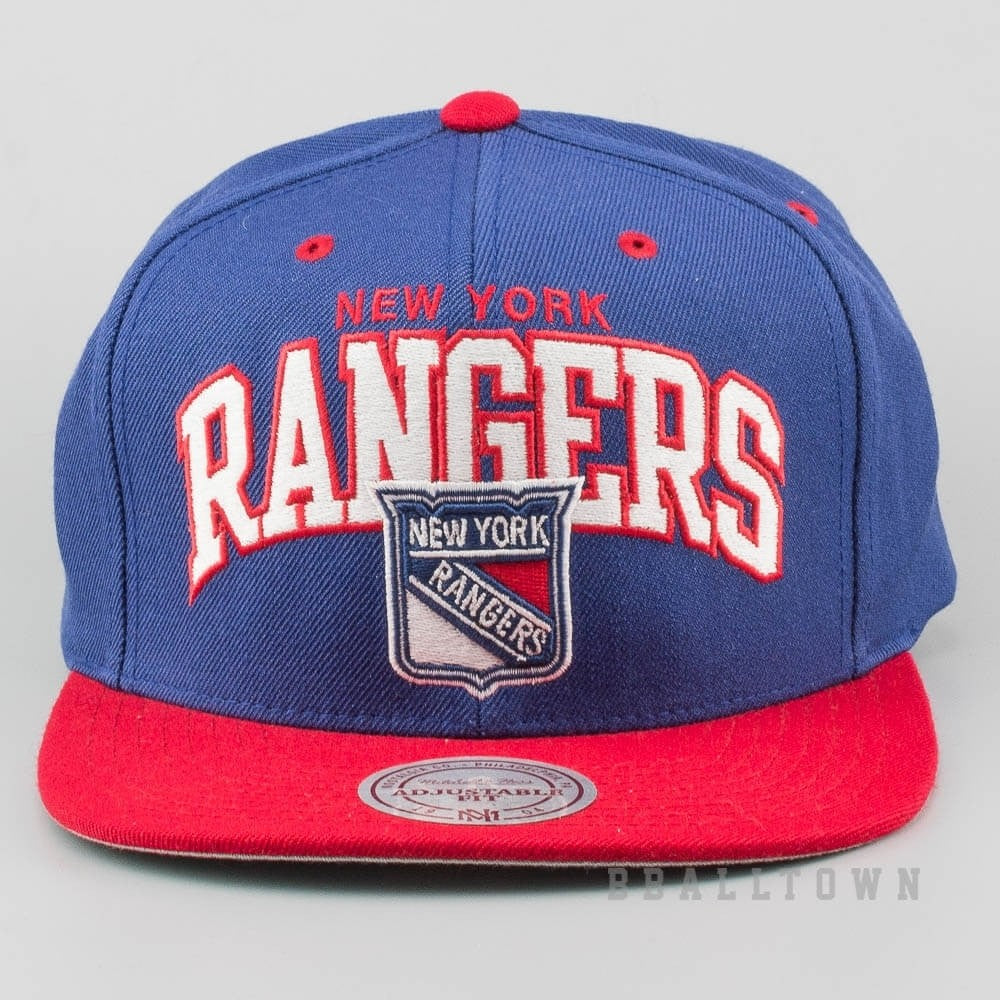 the latest 1a317 99fd8 Mitchell   Ness Vintage Team Arch Snapback NHL - Ny Rangers Blue Red