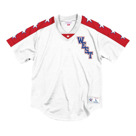 MITCHELL & NESS ALL STAR MESH V-NECK PULLOVER 2004 WEST WHITE