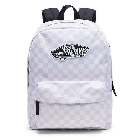 VANS REALM BACKPACK CHALK PINK CHECKER BOARD