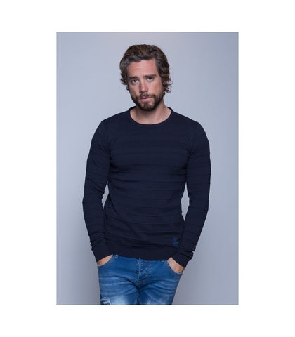 MZ72 Ashton Sweater Deep Blue