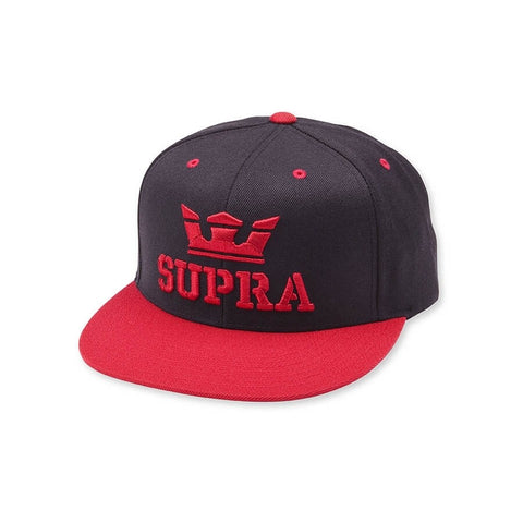 SUPRA Above Snap Hat BLACK/RED