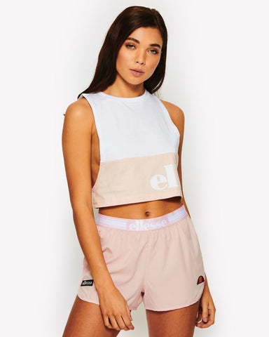 Ellesse Heritage Caorle Cropped Vest Strawberry Cream