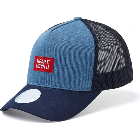 State Of Wow Šiltovka Beverly Baseball Trucker Cap Denim Navy