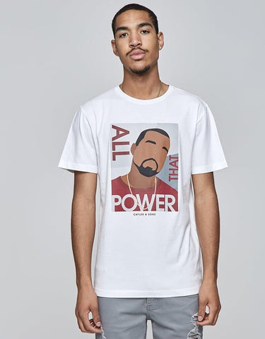 Cayler & Sons White Label Power Tee White/Mc