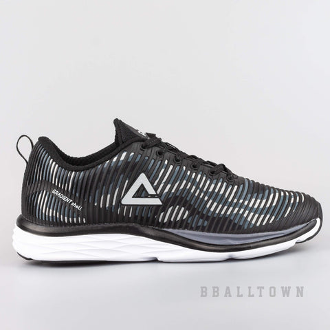 PEAK CUSHION RUNNING SHOES BLACK/GREY - EW74028H