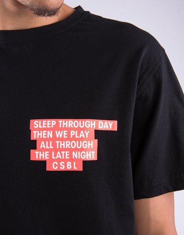 Cayler & Sons CSBL Late Night Tee - black/lazerred