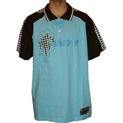 AND1 houndstooth polo