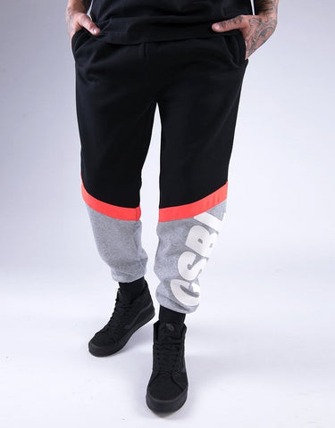Cayler & Sons CSBL CSBLSET Sweatpants - black/lazerred