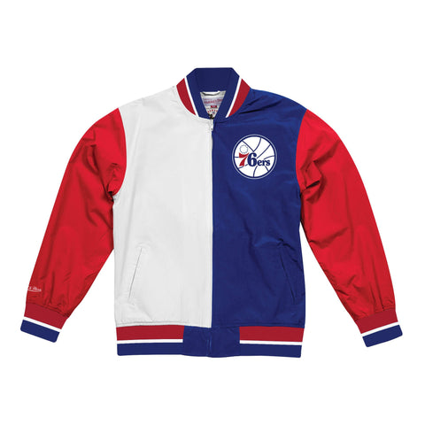 Mitchell & Ness Team History Warm Up Jacket 2.0 Philadelphia 76Ers Blue/Red