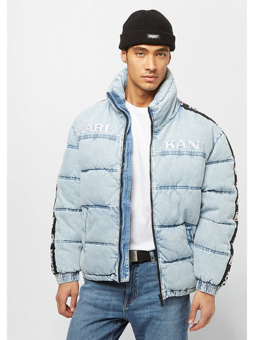 Karl Kani Retro Denim Puffer Jacket Blue
