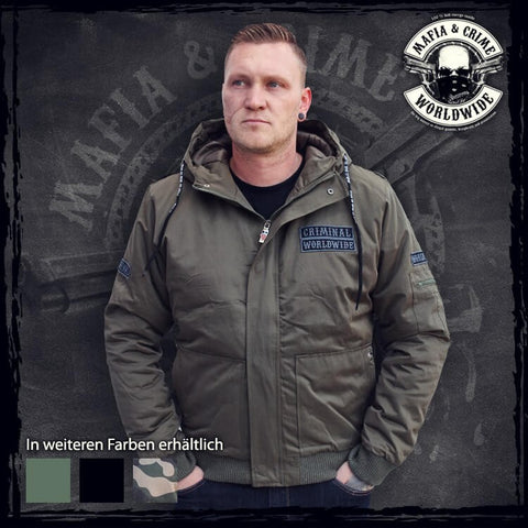 Mafia & Crime Criminal Worldwide Winterjacket Olive