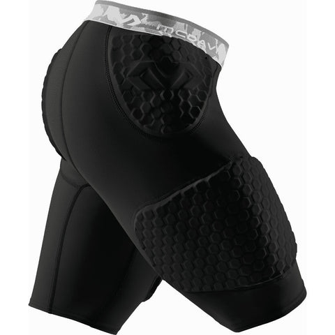Mcdavid Hex Protection Short With Contoured Wrap-Around Thigh  7991 Black