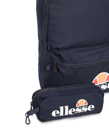 Ellesse Heritage Rolby Backpack + Pencil Case Navy