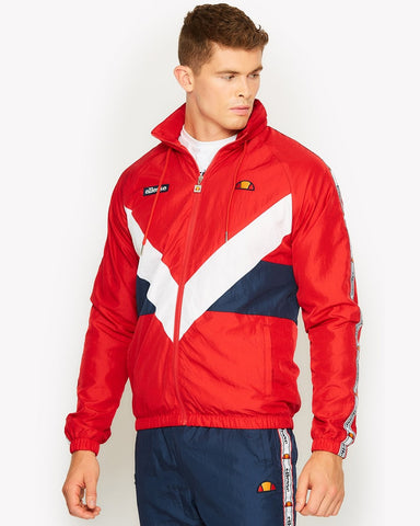 Ellesse Heritage Gerano Full Zip Jacket True Red