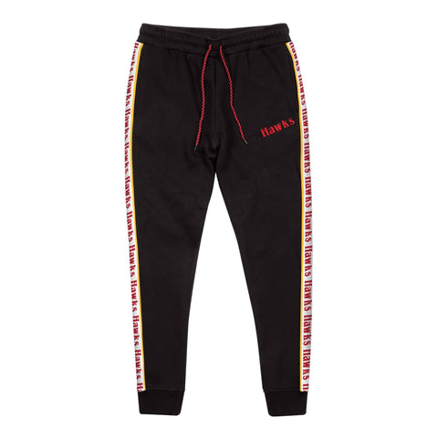Mitchell & Ness Taped Fleece Jogger Atlanta Hawks Black