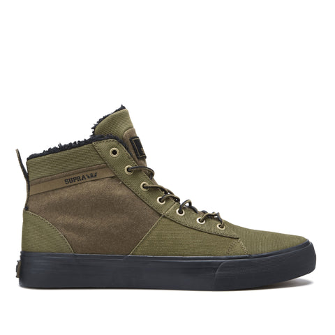 Supra Footwear Stacks Mid Military Olive/Black-Black-M