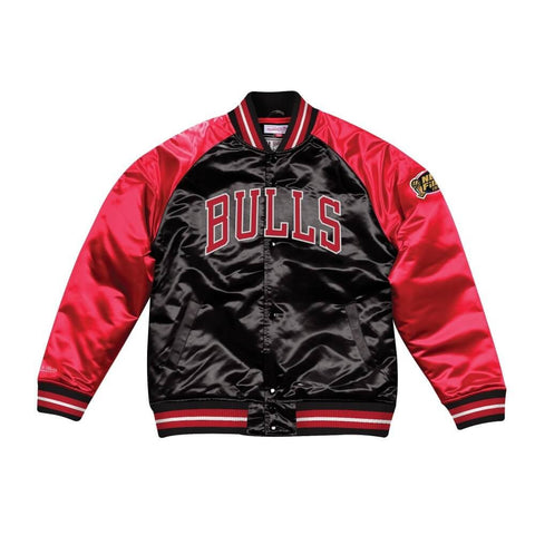 Mitchell & Ness Tough Season Satin Jacket Chicago Bulls Black/Red