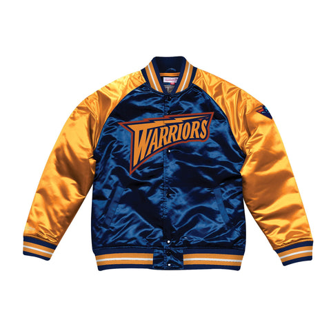 Mitchell & Ness Tough Season Satin Jacket Golden State Warriors Navy/Yellow