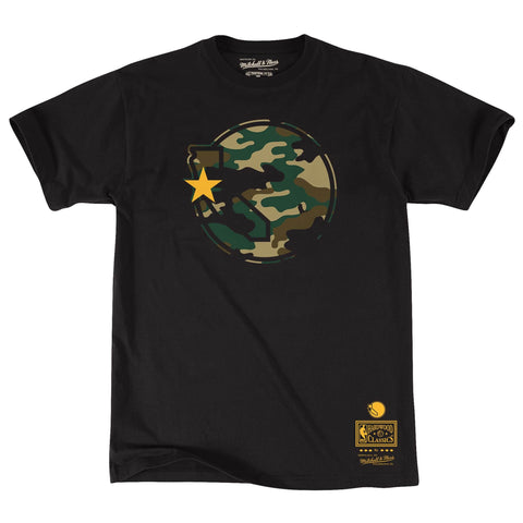 Mitchell & Ness Woodland Camo Ss Tee Golden State Warriors Black
