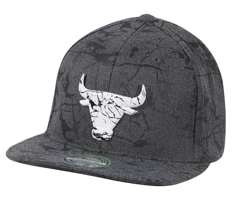Mitchell & Ness NBA Marble Snapback Chicago Bulls Charcoal