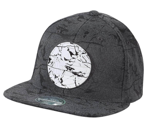 Mitchell & Ness NBA Marble Snapback Golden State Warriors Charcoal