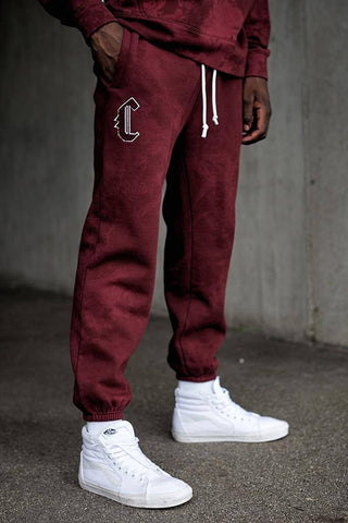 Cayler & Sons Black Label Csbl Blackletter Sweatpants Bordeaux Tiedye/White