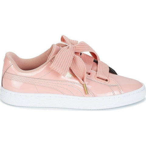 Puma Basket Heart Patent Pink/White Women