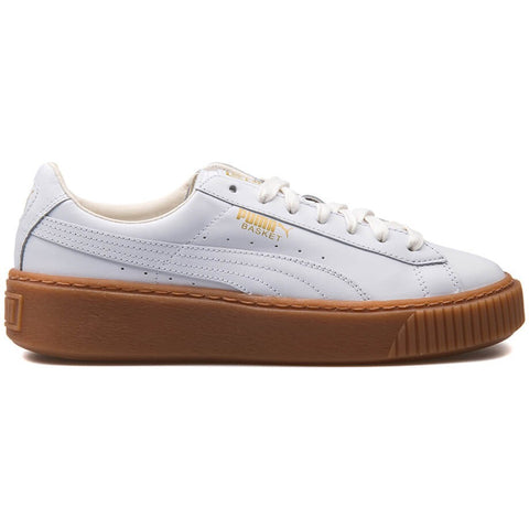 Puma Basket Platform Core White/Brown Women