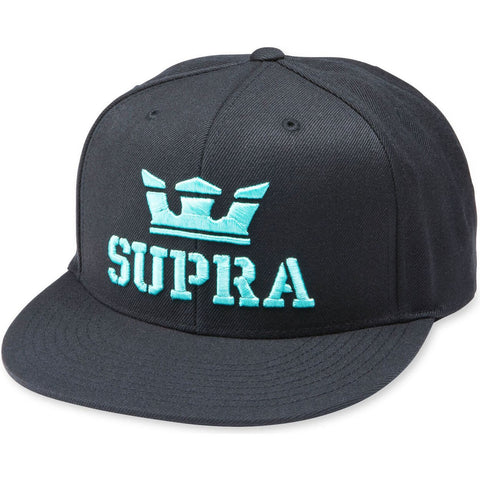 SUPRA ABOVEII SNAPBACK BLACK/ELECTRIC