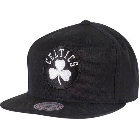 Mitchell & Ness Wool Solid Snapback Boston Celtics Black/White