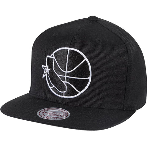 Mitchell & Ness Wool Solid Snapback Golden State Warriors Black/White