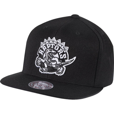 Mitchell & Ness Wool Solid Snapback Toronto Raptors Black/White