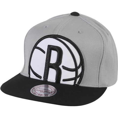 Mitchell & Ness Nba Cropped Xl Snapback Brooklyn Nets Grey