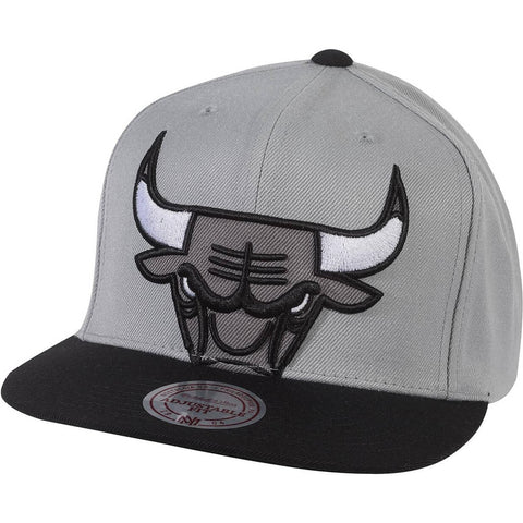 Mitchell & Ness Nba Cropped Xl Snapback Chicago Bulls Grey
