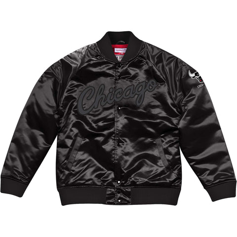 Mitchell & Ness Tough Season Satin Jacket (Tonal) Chicago Bulls Black
