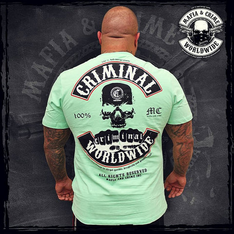 Mafia & Crime Criminal Worldwide Shirt Nc Mint Green