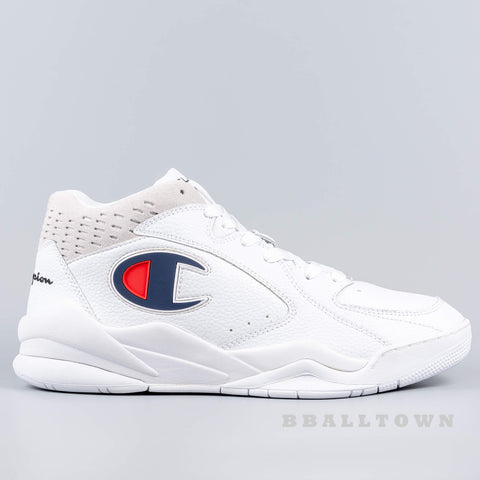 Champion Mid Cut Shoe Zone Mid White